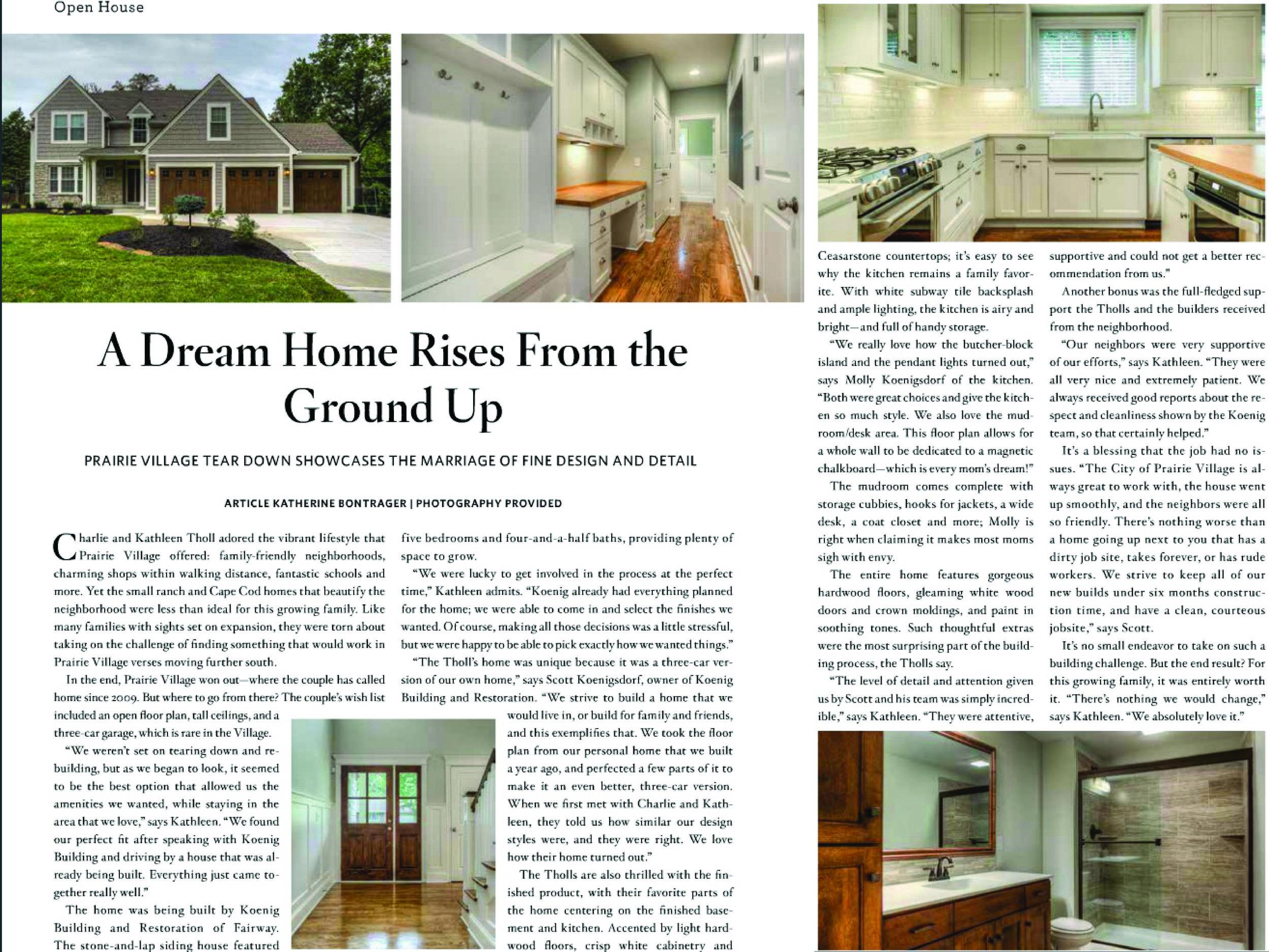 Leawood Lifestyle Magazine Feature Nov 2014