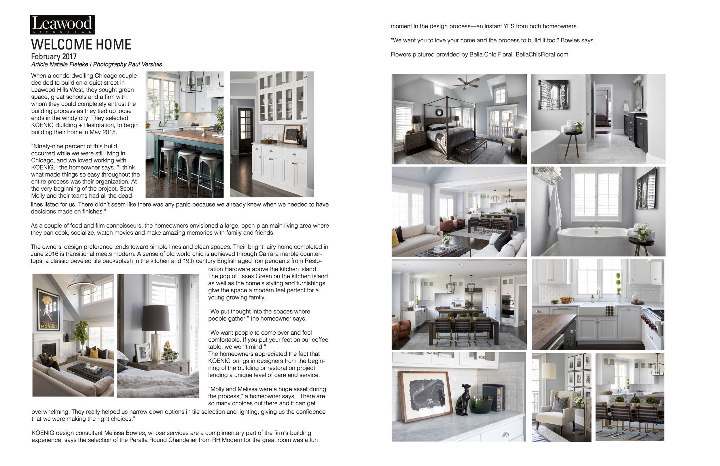 Leawood Lifestyle Magazine Feature  February 2017