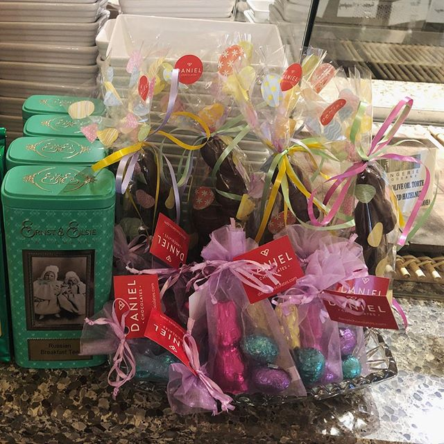 Easter chocolates have arrived from our dear friends at Daniel Belge! Yum yum! #fortheloveofchocolate #eastertreats #fraserhood #familybusiness #batardbakery