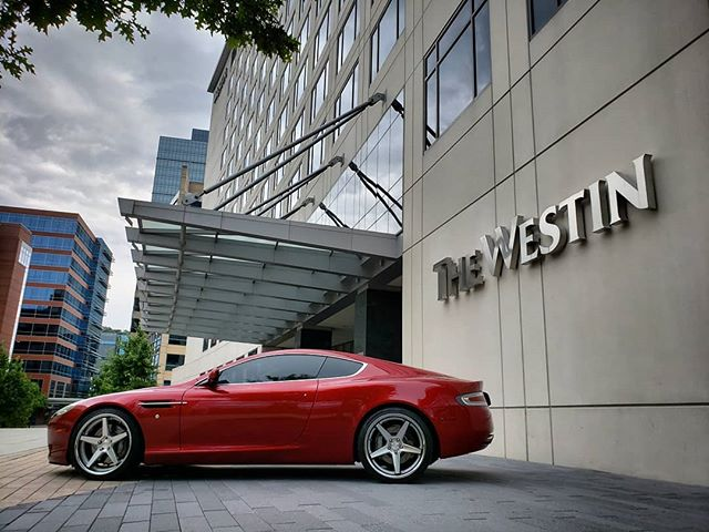 Our beautiful Aston Martin DB9 is always available at the @westinthewoodlands Call 1.800.996.1960 or visit www.CarbonAutoGroup.com to book your reservation TODAY! #DreamItDriveIt #CarbonAutoGroup #exotic #car #rental #photography #fun #fast #cars #Houston #thewoodlands #selfie #astonmartin #lamborghini #ferrari #bentley