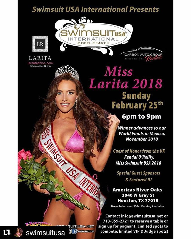 Carbon Auto Group will be sponsoring this amazing event this coming weekend. Come out and see the finalist that will advance to the World Finals! #Repost @swimsuitusa ・・・ 💕👑 #swimsuitusa #swimsuitusainternational #laritafashion #carbonautogroup #modelsearch #model #photography #fun #fast#cars #houston #beauty