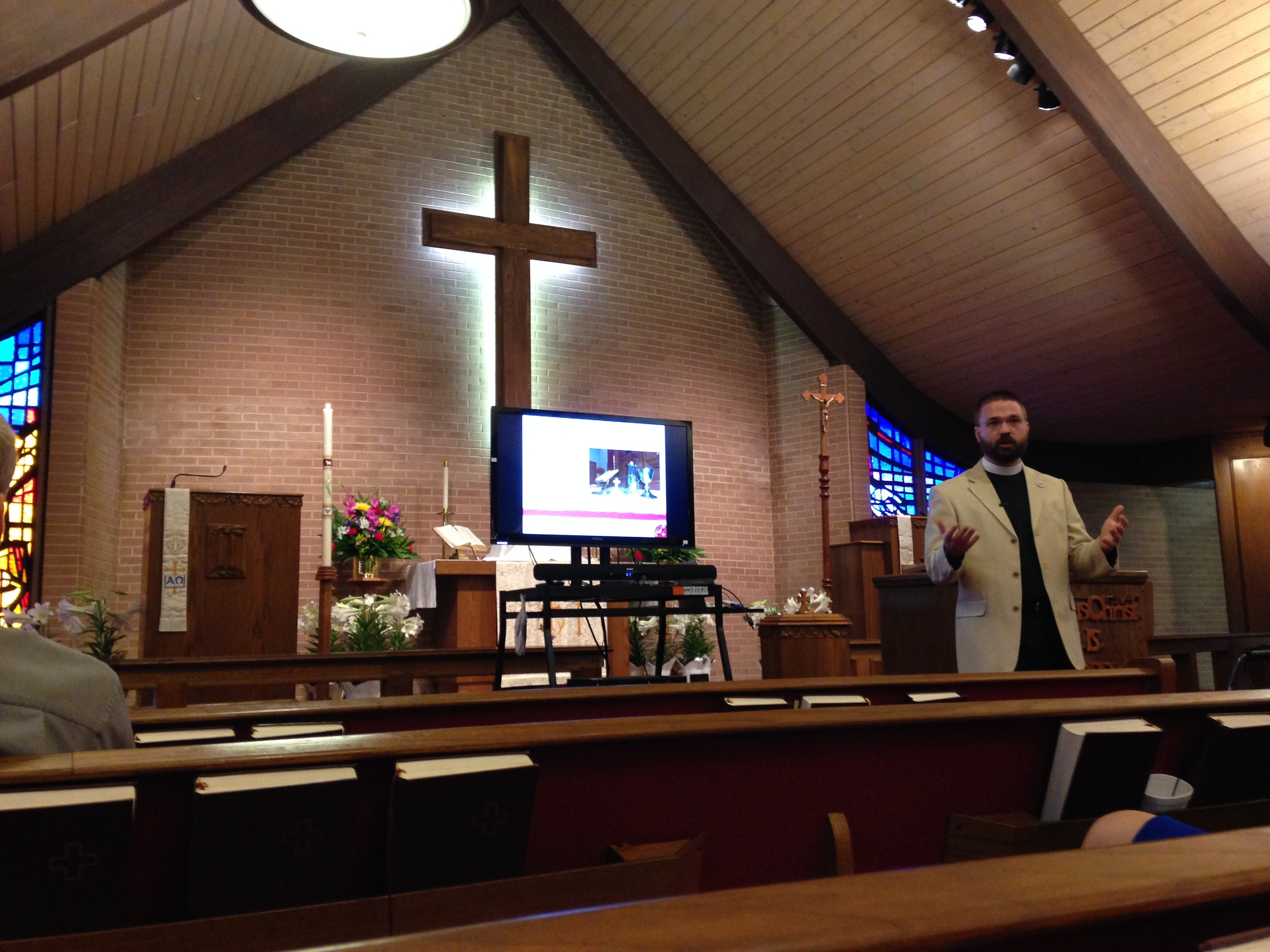 I'm presenting during the Bible Class hour at Faith.