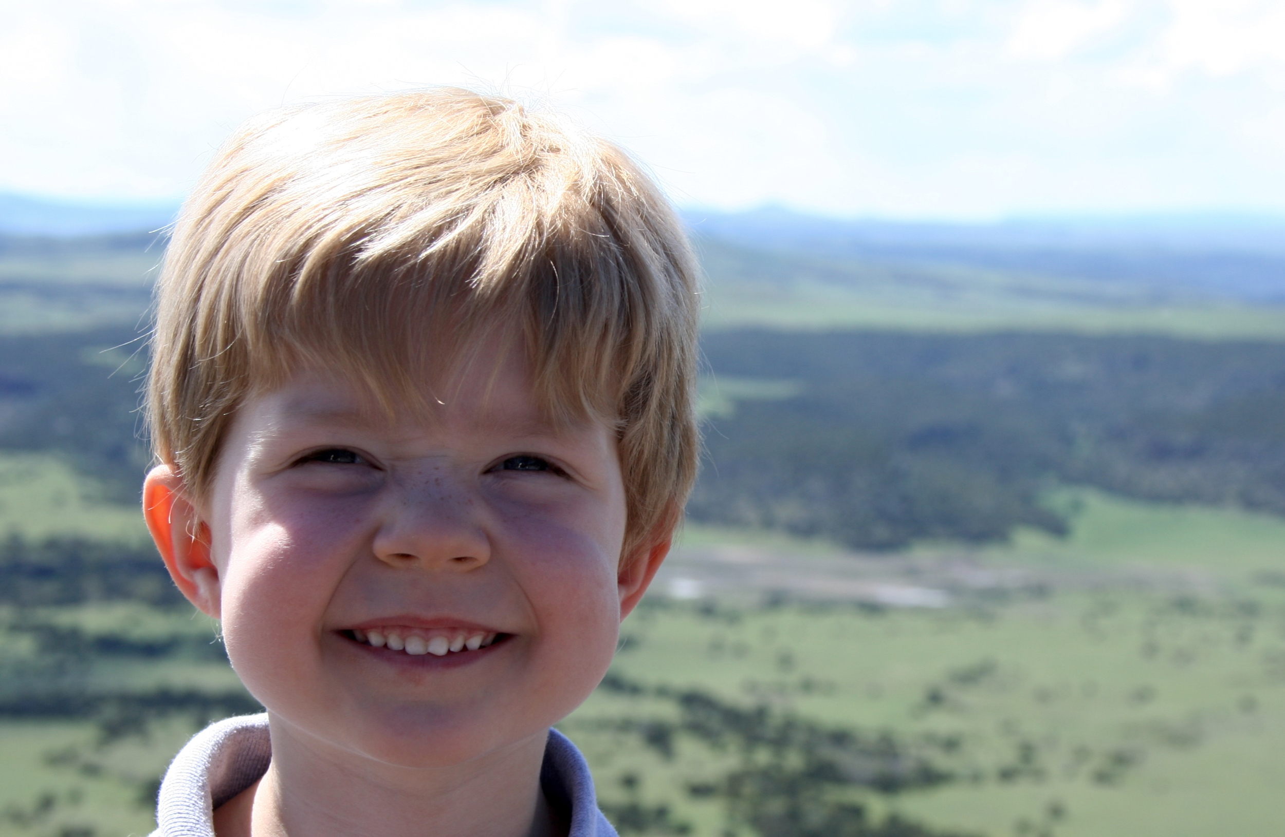 Ronan standing at the edge Capulin volcano