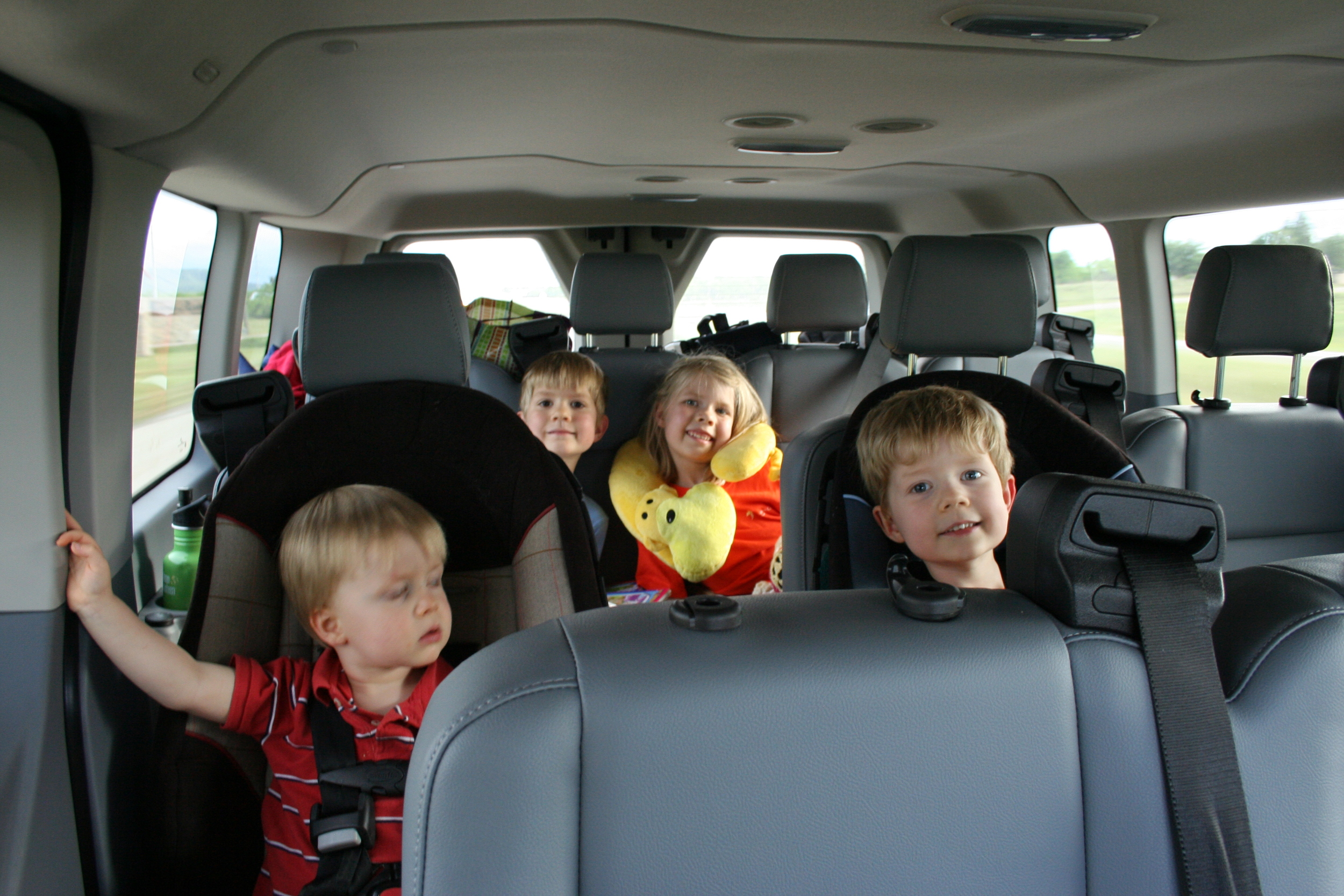 Kiddos in the Ford Transit 350