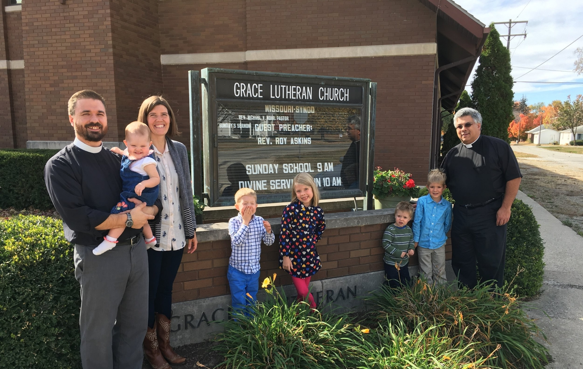 One of our favorite stops several years ago at Grace Lutheran Church, Strasburg, IL.