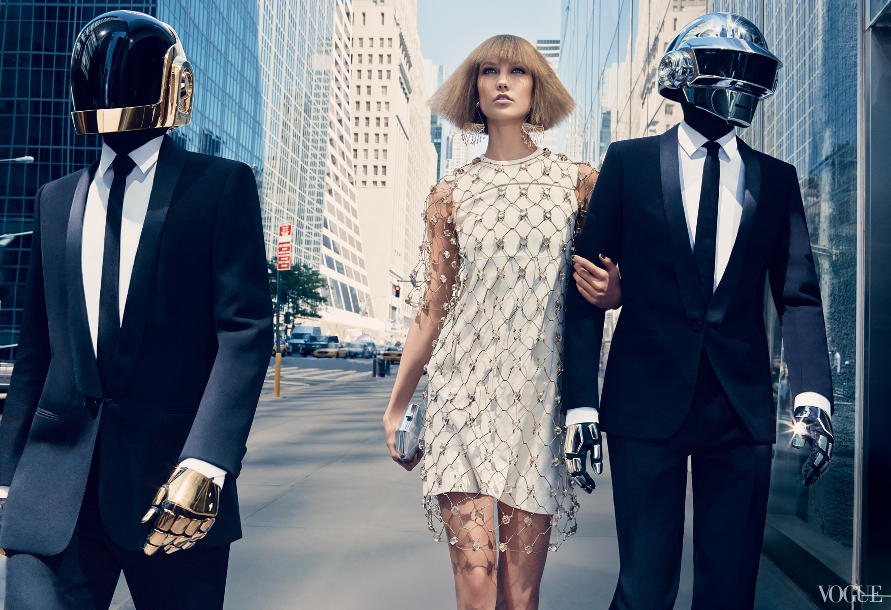 Vogue August 2013  Karlie Kloss & Daft Punk  Photographed by Craig McDean  Styled by Tabitha Simmons