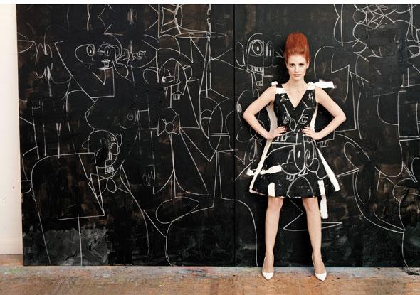W Magazine January 2013 - dress fabricated by Christy Rilling Studio