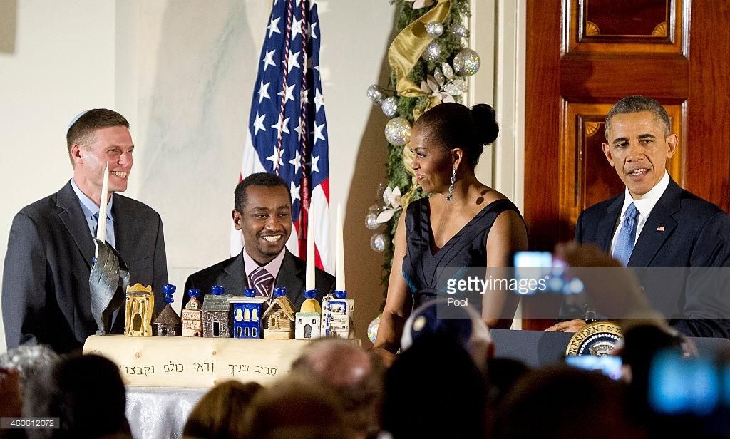 Michelle Obama - December 2014 - Christy Rilling studio dress