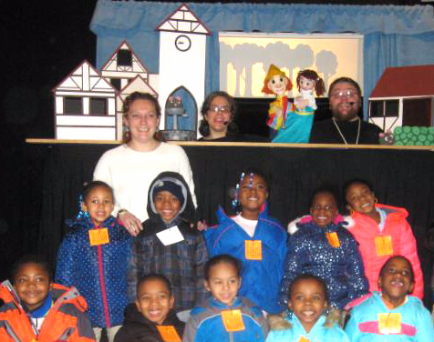 School funded by the MCMF with CactusHead Puppets, Jan 2015