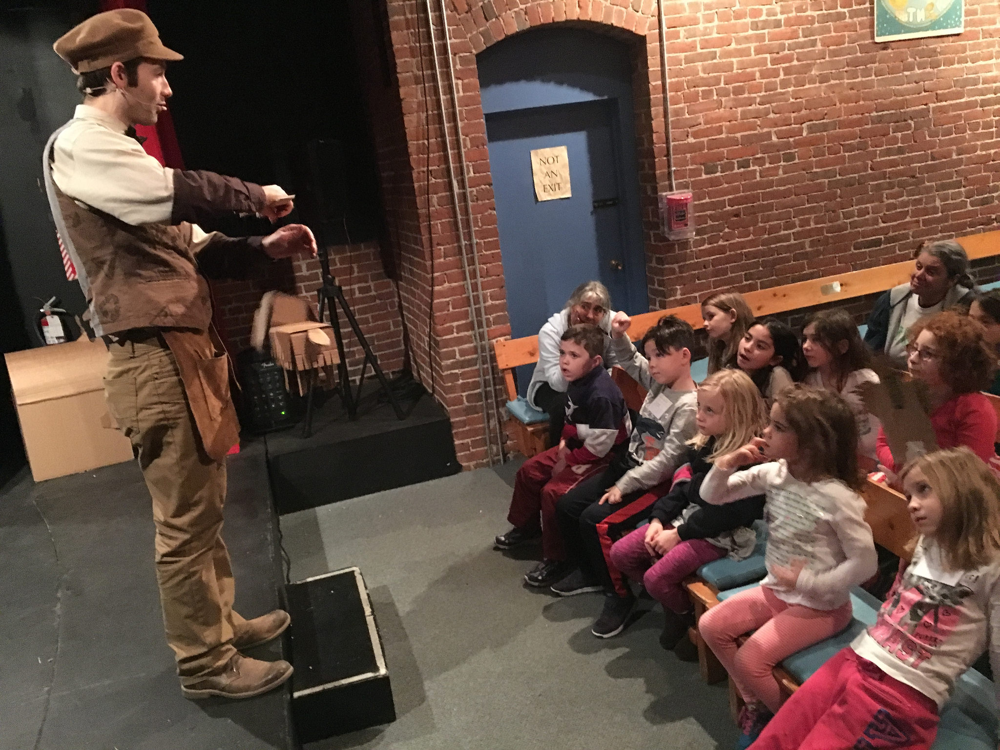 Puppet Showplace Theater, a school group gets to be a test audience for the show! Jan, 2016