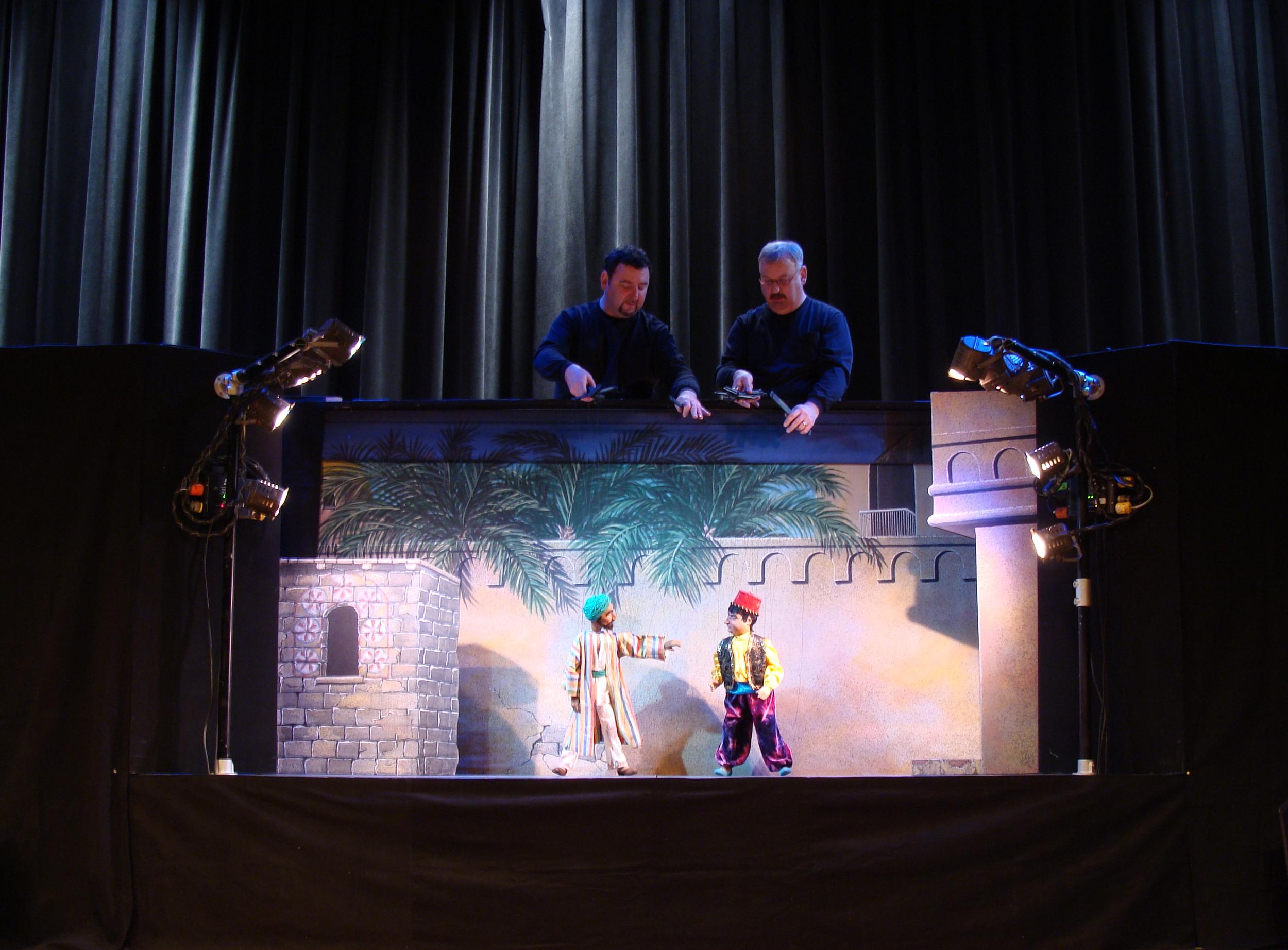 Arabian Nights. Left to right: Peter Syrotiak, David Syrotiak Jr.