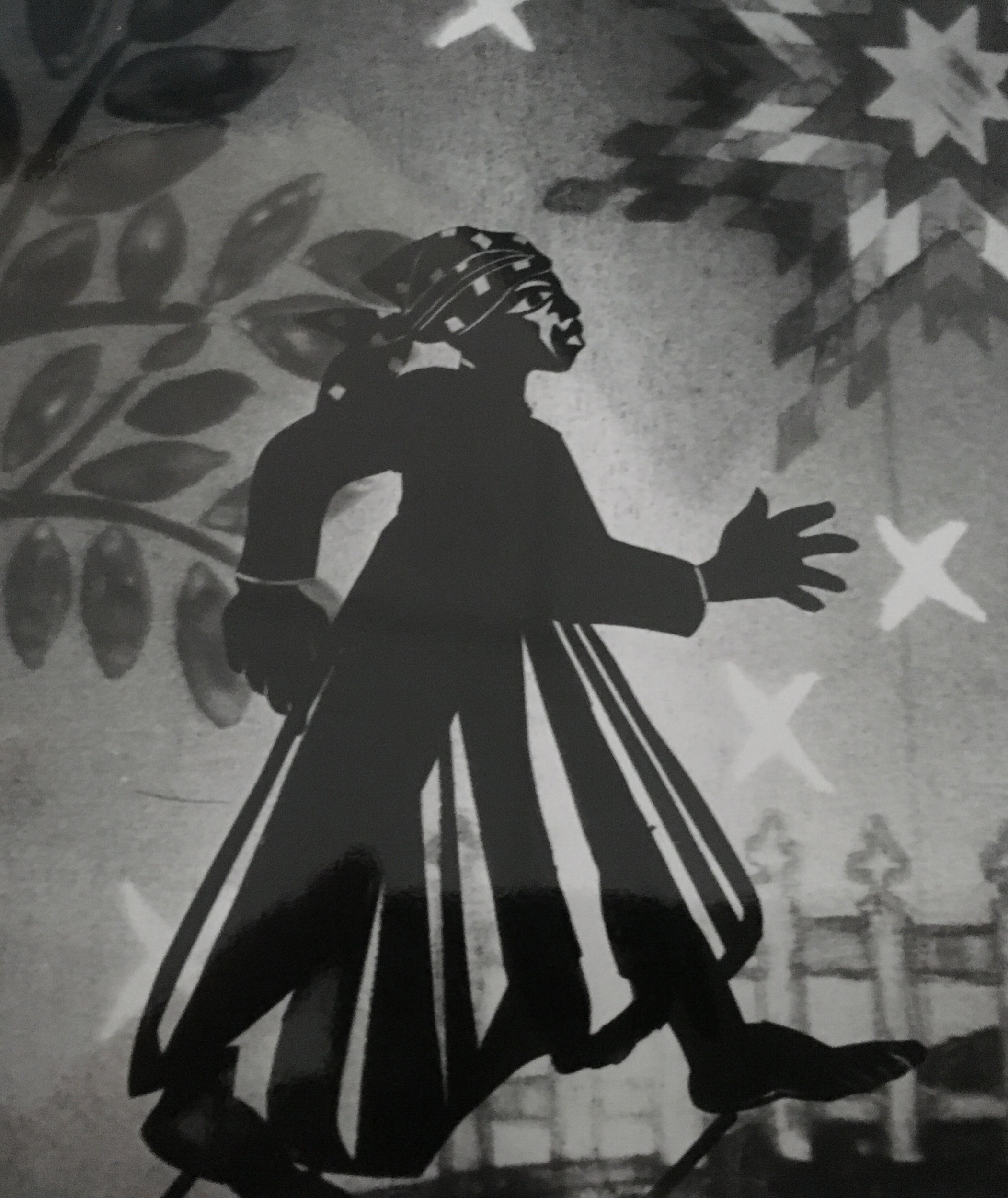 Harriet Tubman shadow puppet from  Are You Ready My Sister? by Underground Railway Theater