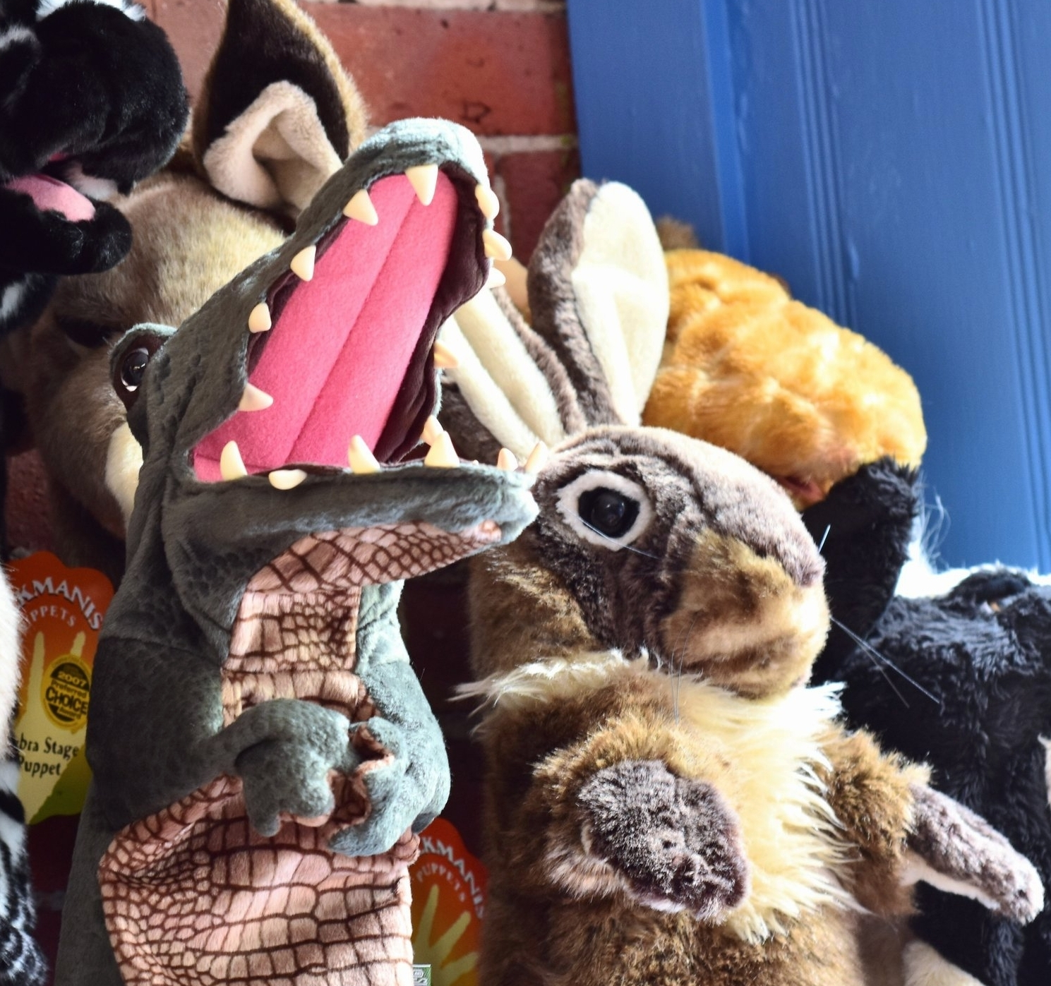 Folkmanis Crocodile and Rabbit Stage Puppets
