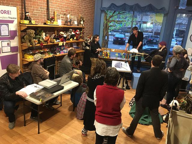 Hatchery Artists in Puppet Showplace Lobby.jpg