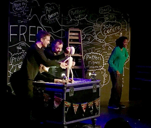 Meet Fred  by Hijinx Theatre of Wales, September 2018. This show, never before seen in Boston, engaged audiences in conversations about access and inclusion.