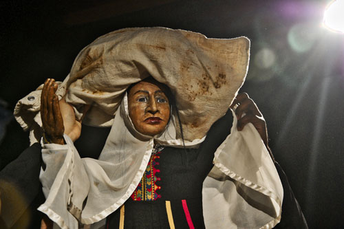 Puppet Character Refugee Woman from Afghanistan