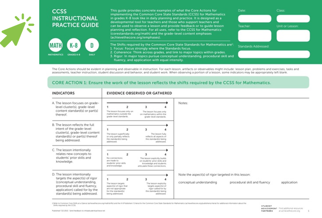 CCSS Instructional Practice Guides