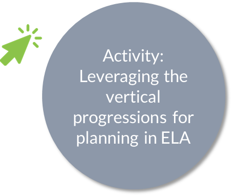 Activity: Leveraging the vertical progressions for planning in ELA