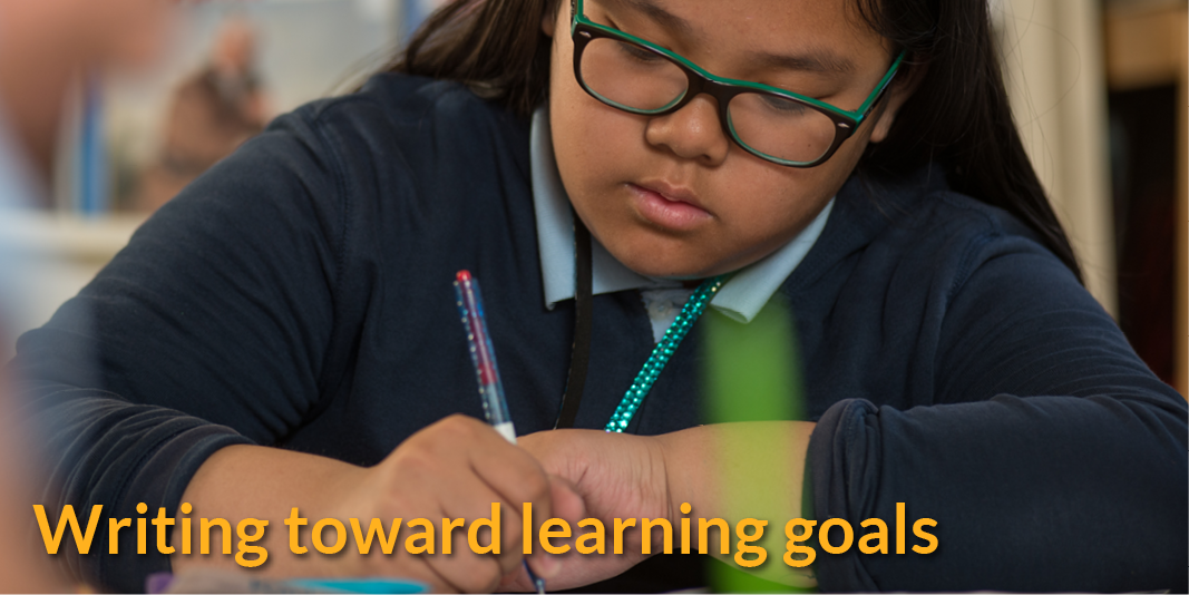 Writing towards learning goals