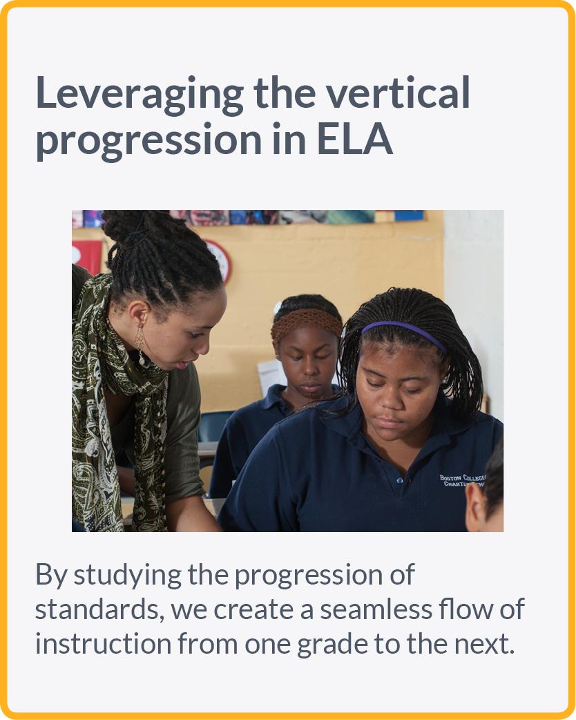 Leveraging the vertical progression in ELA