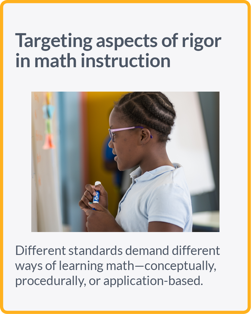 Targeting aspects of rigor in math instruction