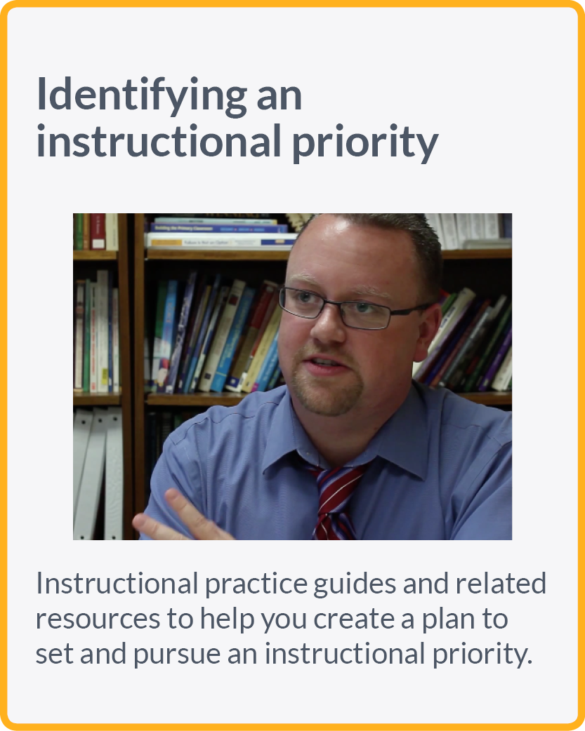 Instructional practice guides and related resources to help you create a plan to set and pursue an instructional priority.