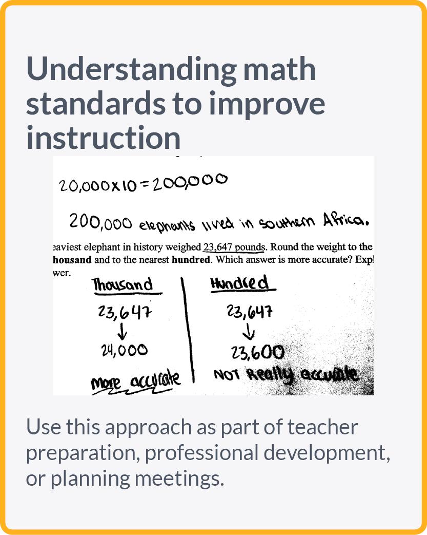 Understanding math standards to improve instruction