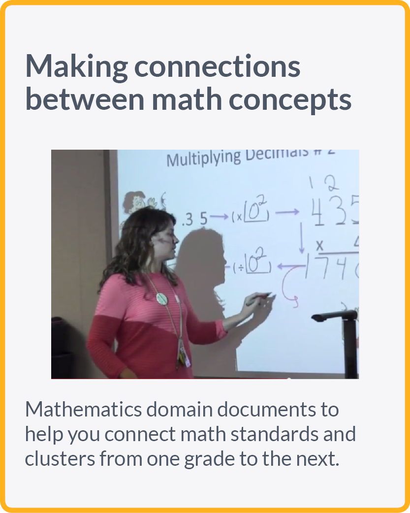 Making connections between math topics