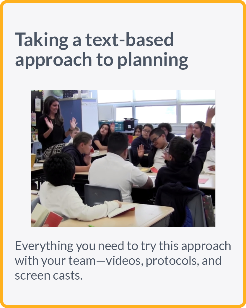 Taking a text-based approach to planning