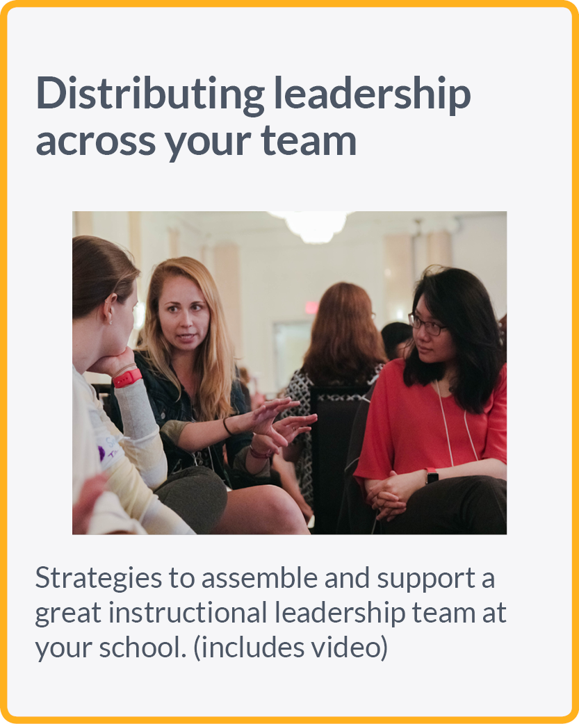 Strategies to assemble and support a great instructional leadership team at your school. (includes video)