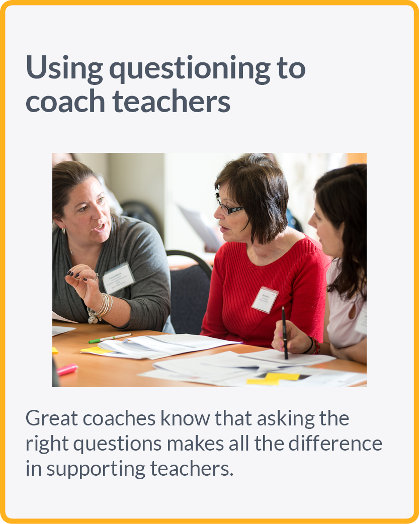 Great coaches know that asking the right questions makes all the difference in supporting teachers.