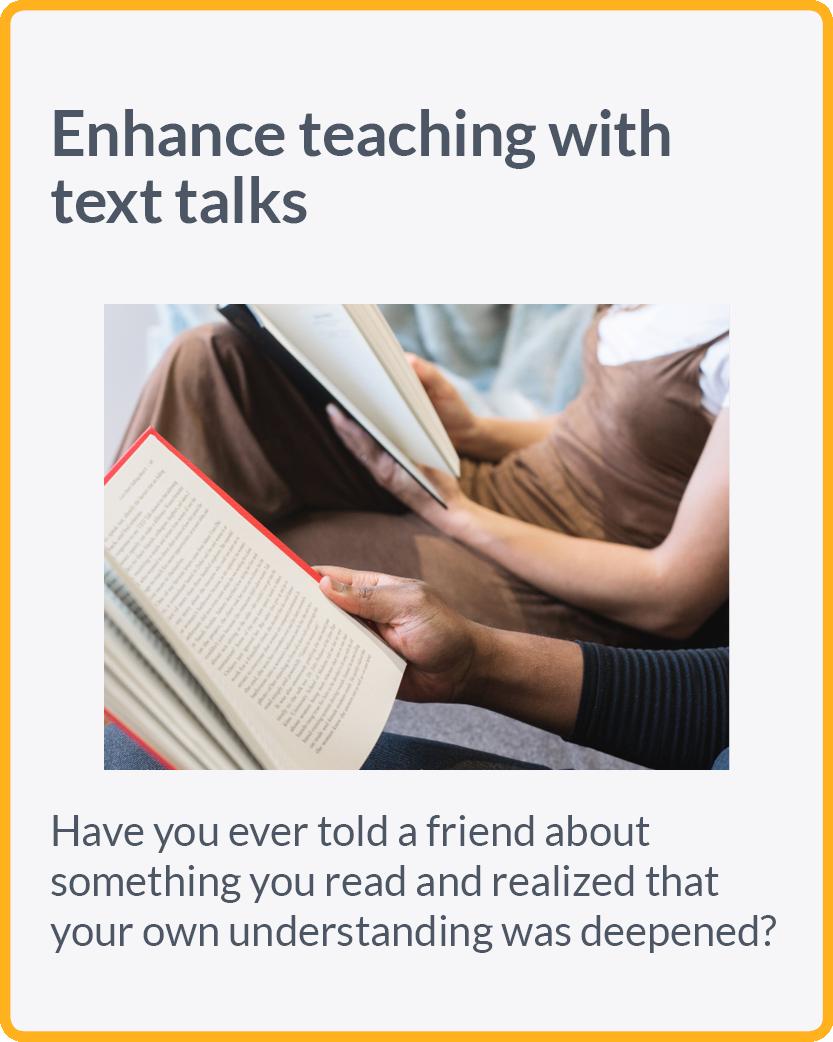 Enhance teaching with text talks