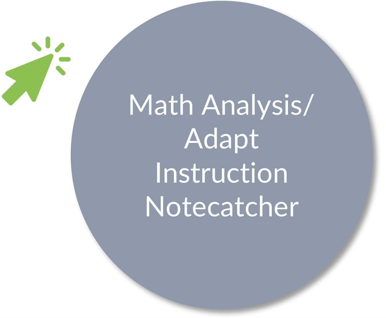 math analysis adapt instruction notecatcher
