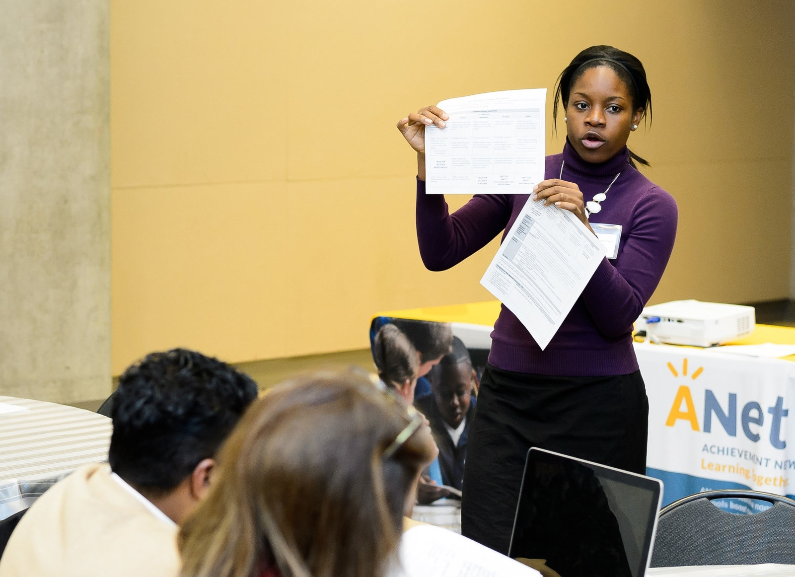Michelle leading a PD workshop