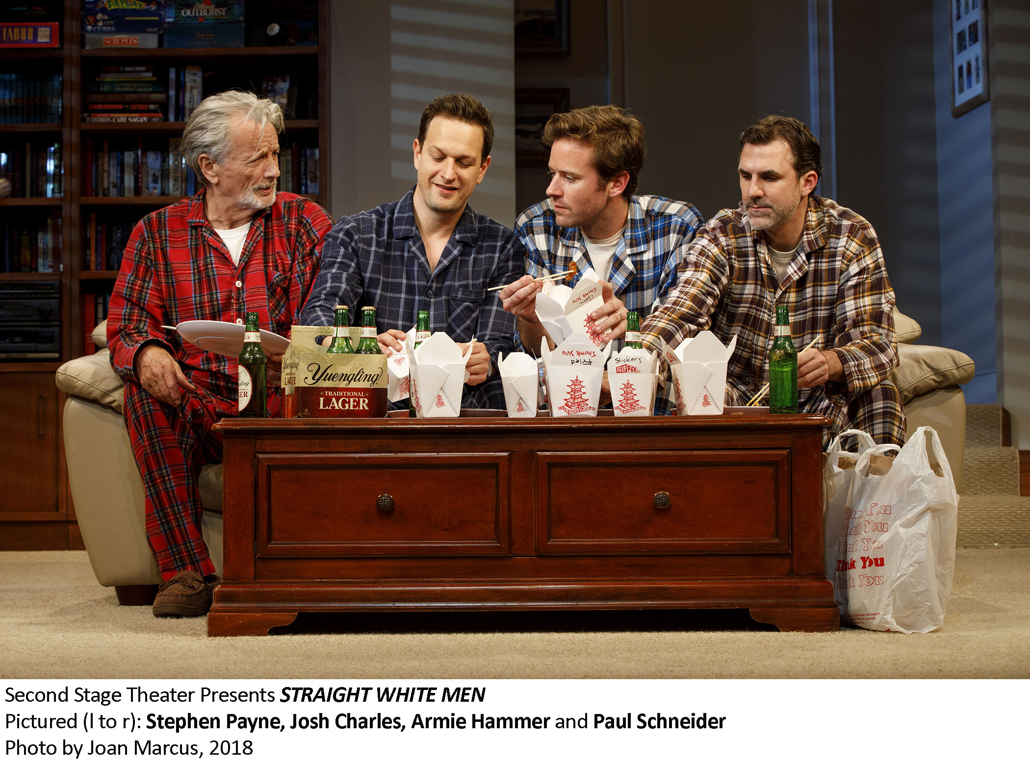 Straight White Men,  in its author's  maiden Broadway voyage , closes on Sunday, September 9.