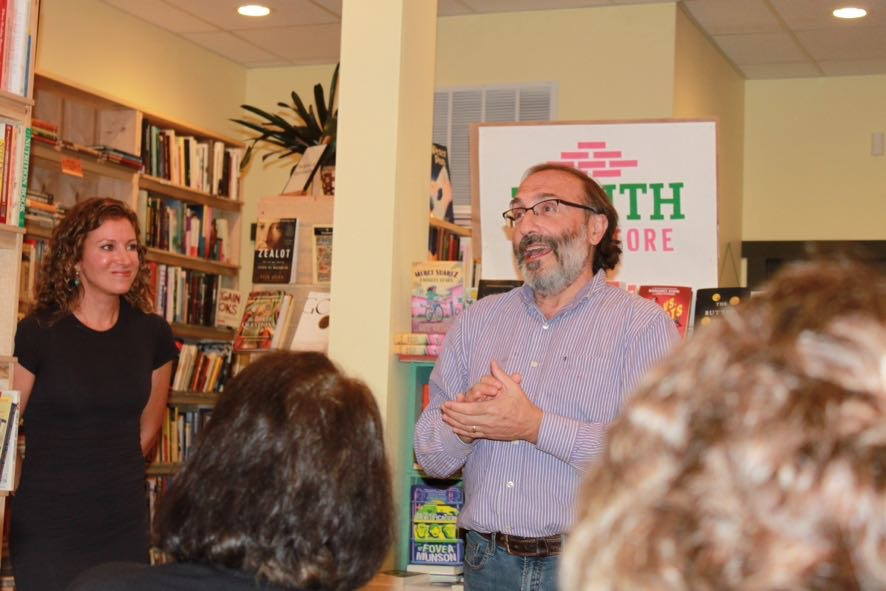 Bob Dobrow, owner of Zenith Bookstore in Duluth, Minn., gives me and my family a most generous introduction.