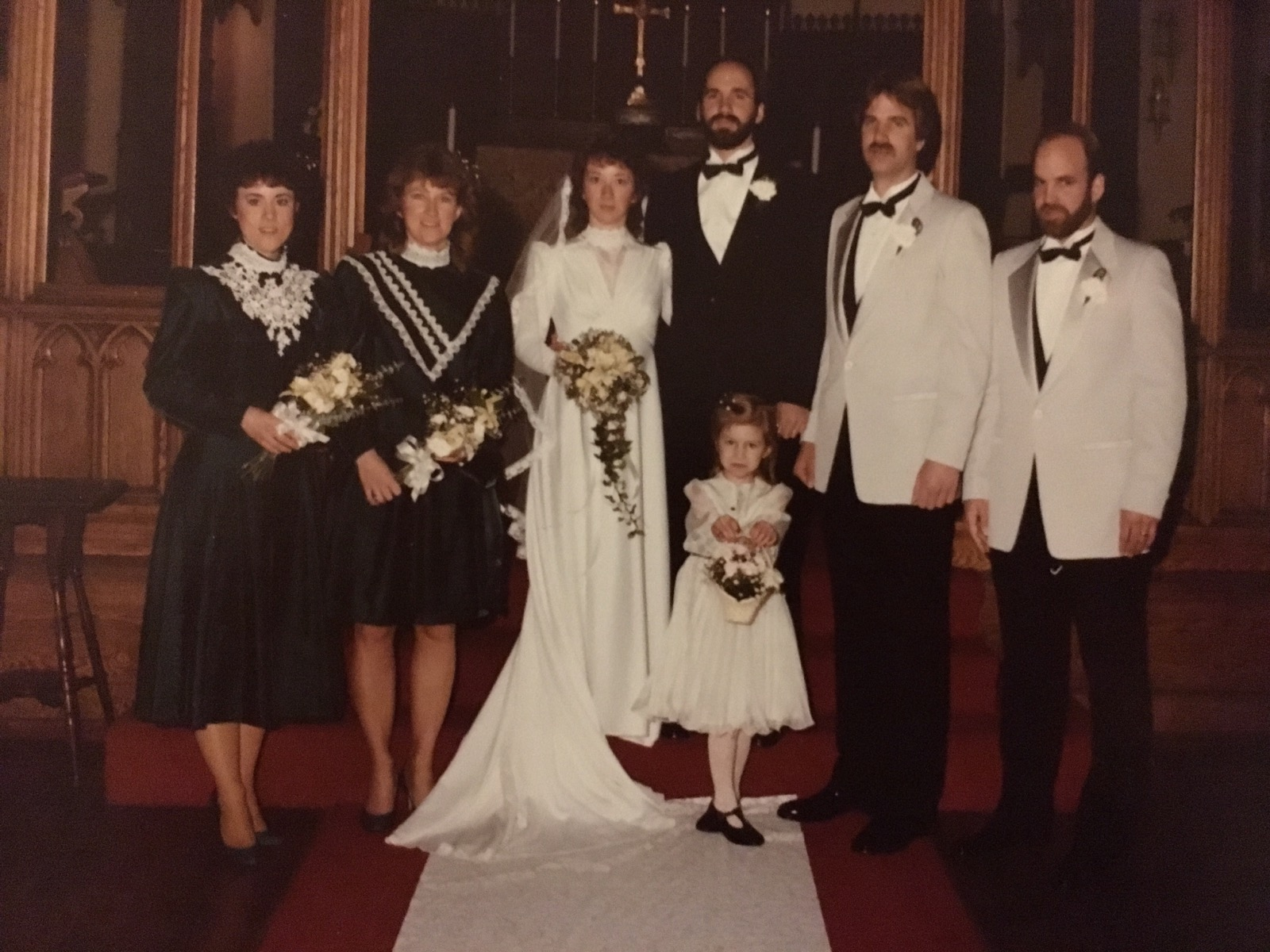 Left to right: my aunt's best friend Lynn, her big sister (my mommy), my beloved Auntie Ellen, me at age 5, my Uncle Dan and his two brothers, Robert and David Pioro.