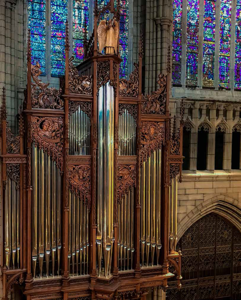 The Irene D. and William R. Miller in memory of John Scott at Saint Thomas Church Fifth Avenue, one of the most important instruments in North America. Photo: Ira Lippke
