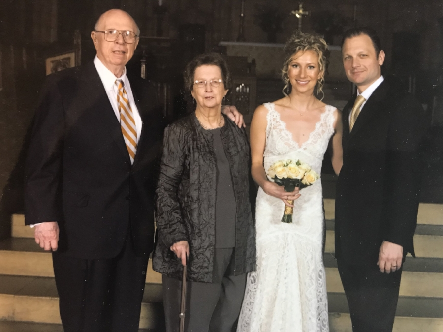 Bret and I were married at Saint Thomas in 2007 with my grandparents in attendance. Jeremy Bruns, Associate Organist from 2004-2007, played my march from Suite for Trumpet and Organ by H. Purcell (1659-95).