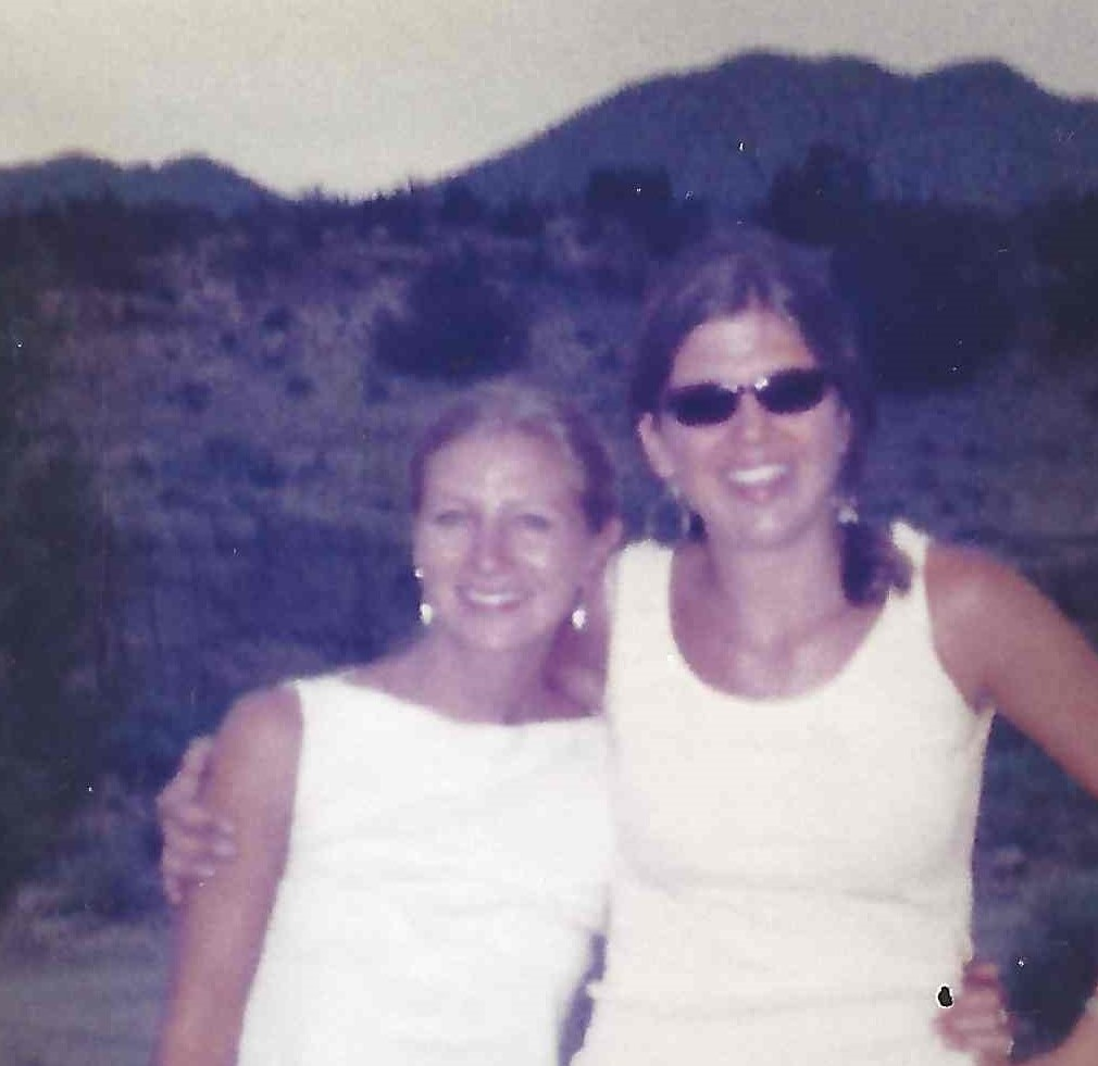2002. Backdropped by the Sangre de Cristo Mountain foothills near Santa Fe, New Mexico, with Noemi Hagen Wierwille, lifelong bestie, inspiration, and encourager.