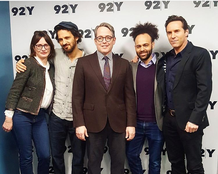 To Dust  wife-husband producer team Emily Mortimer and Alessandro Nivola bookend the film's stars, Géza Röhrig and Matthew Broderick, alongside our friend Shawn Snyder, who directed and co-wrote the film.