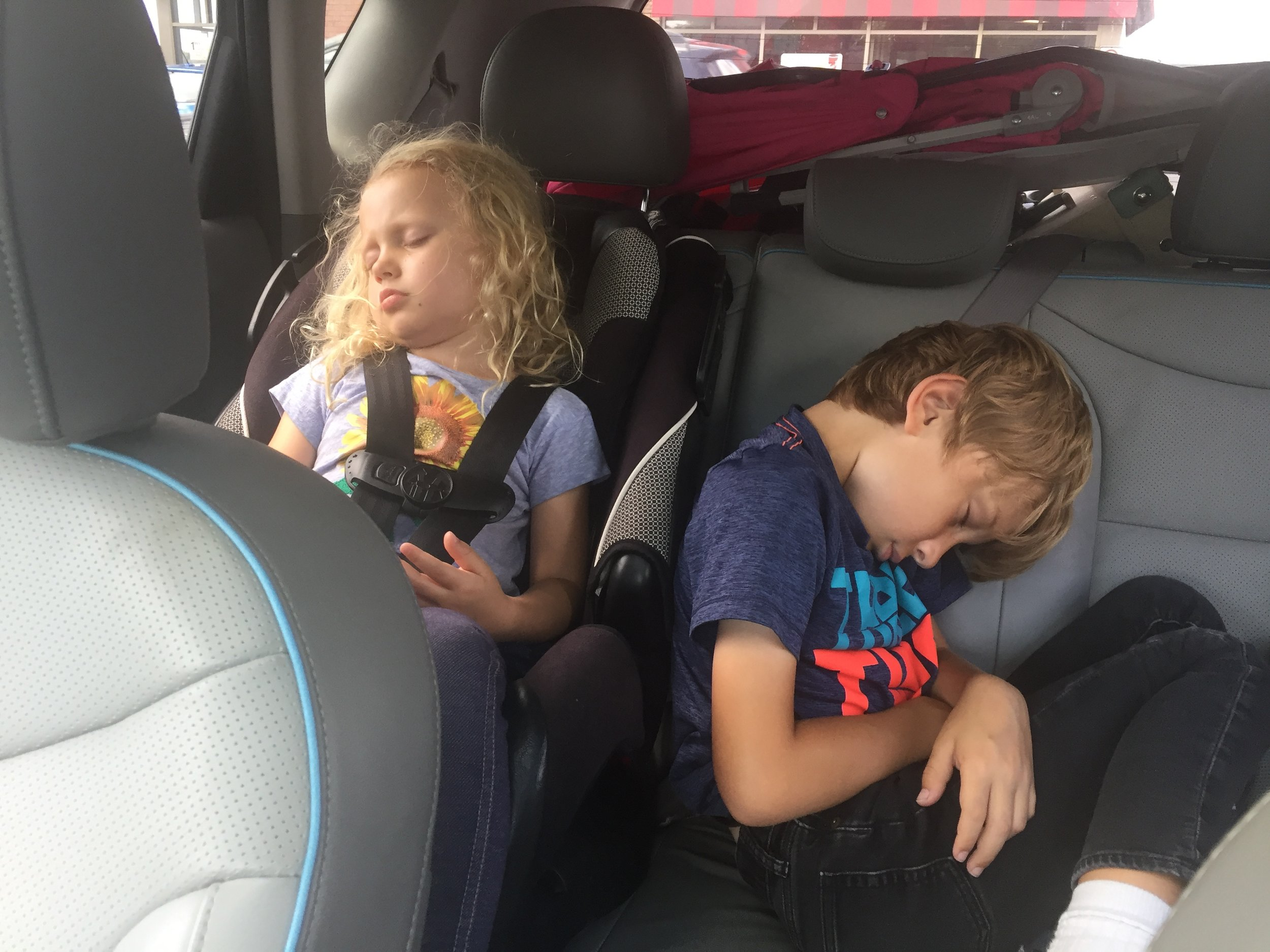 """After zero hours of bus sleep myself, I wanted to tell them, """"I hope that feels good,"""" but was just grateful for minimal backseat squabbles. (To be fair, they are incredible mis-adventurers and were not nearly as hard on me as they had a right to be.)"""