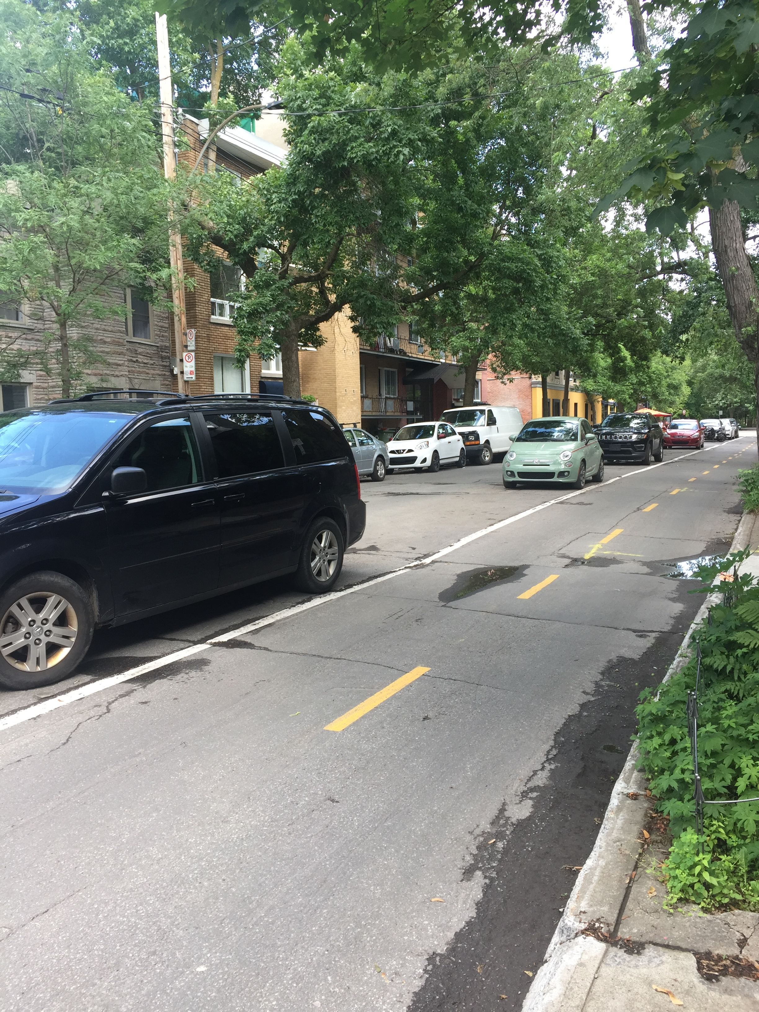 That would be street parking BETWEEN the bike and motor vehicle driving lanes, protectively separating cyclists and cars.