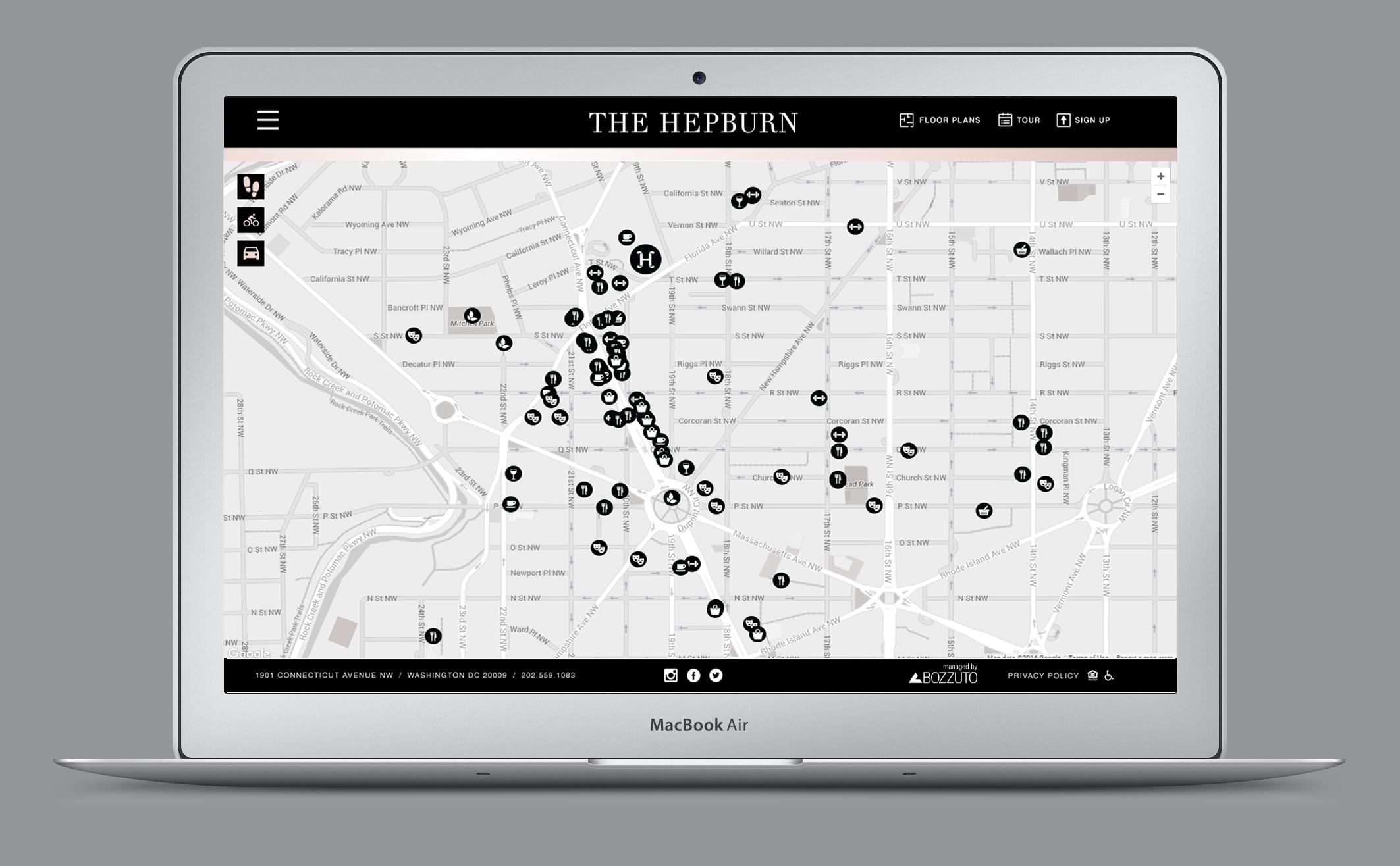 The Hepburn Website Map.png