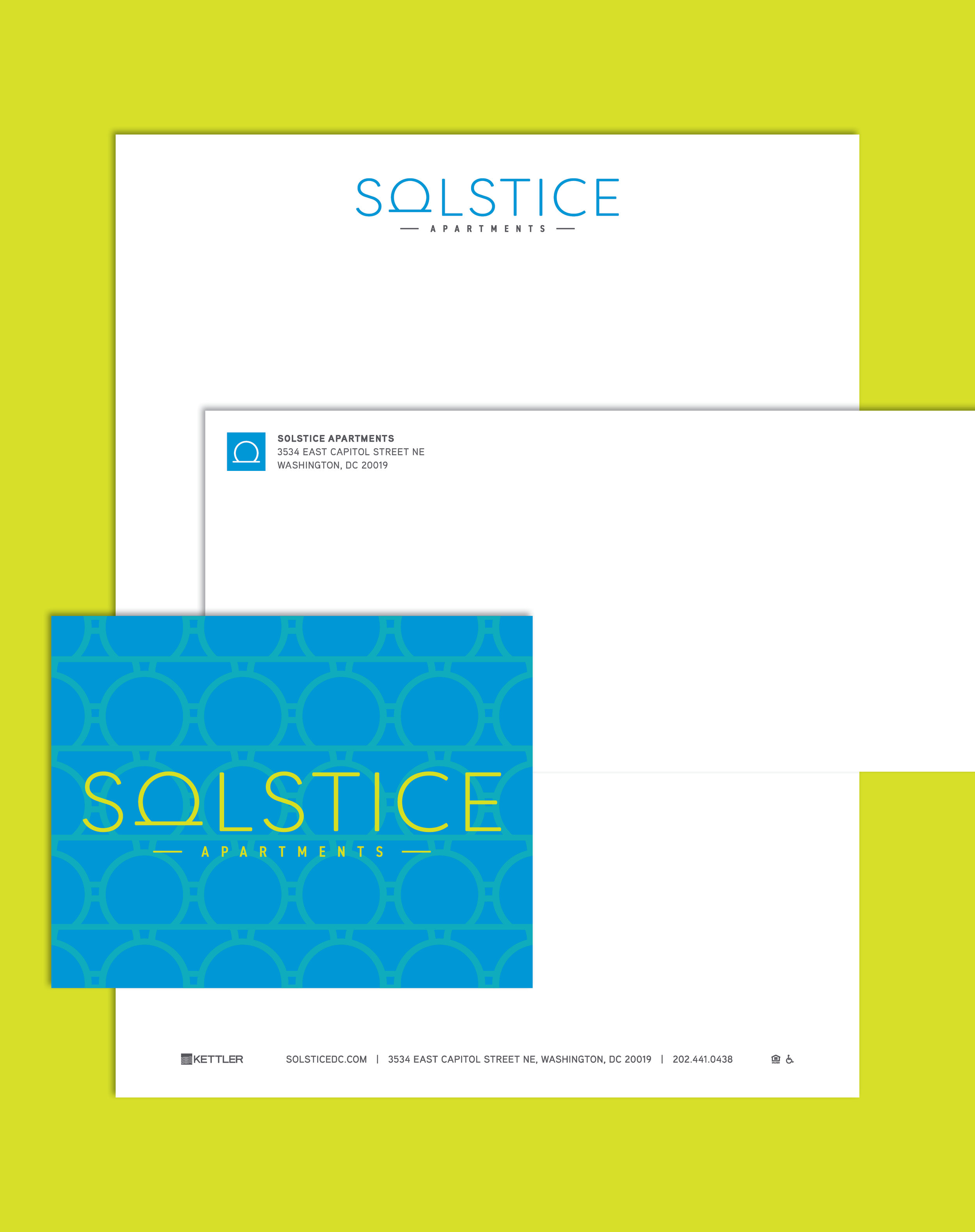 Solstice Letterhead, Envelope & Notecard