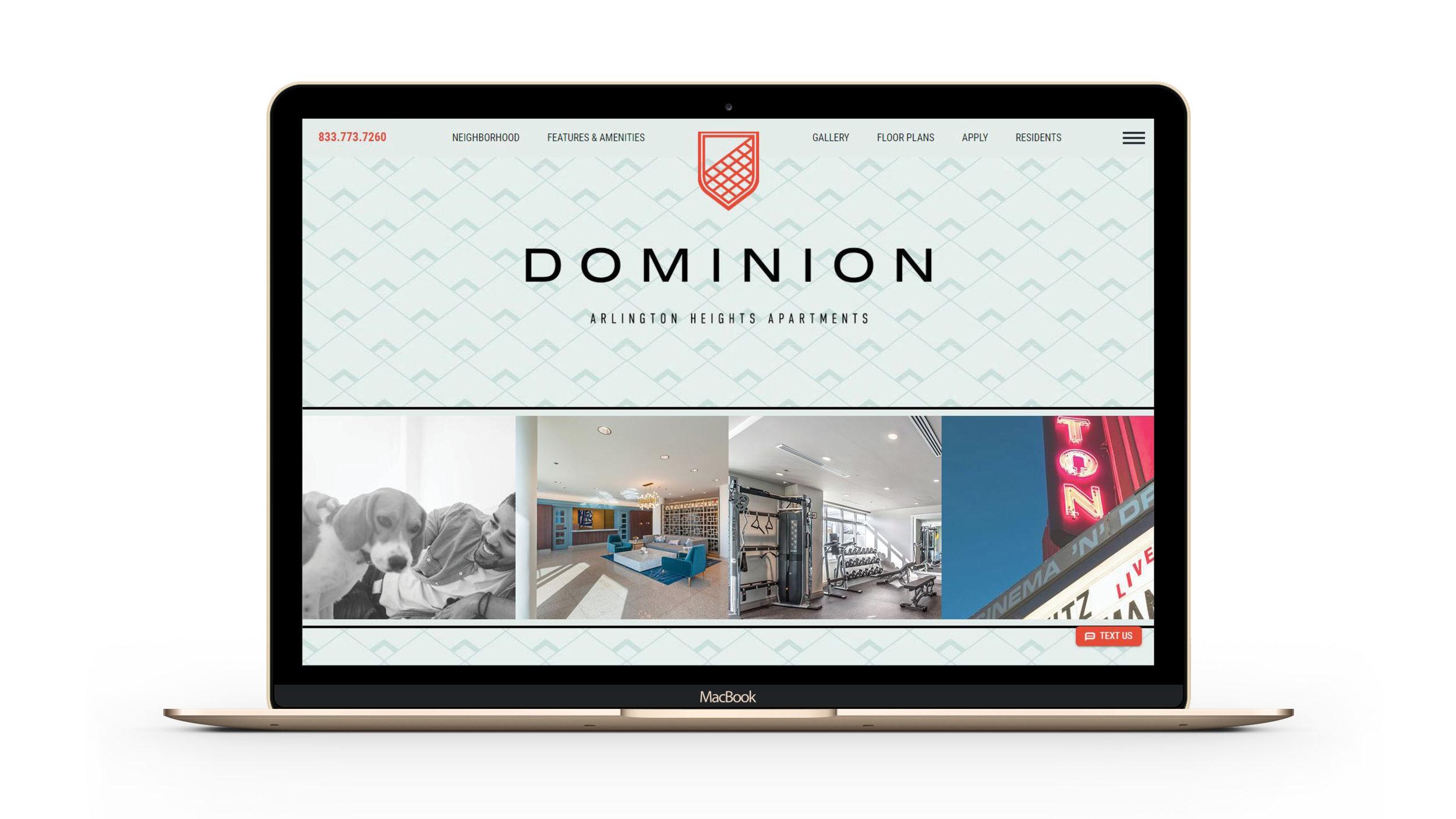 Dominion Branding Website Landing Page