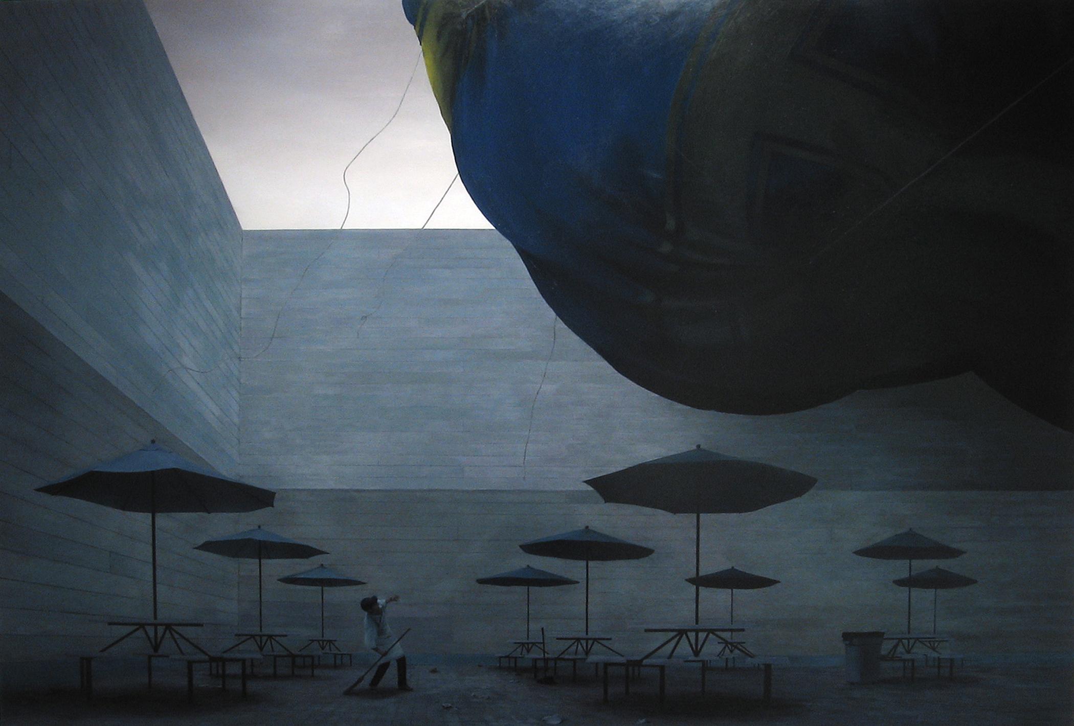 "Alejandro   2005  oil on panel  44"" x 64"""