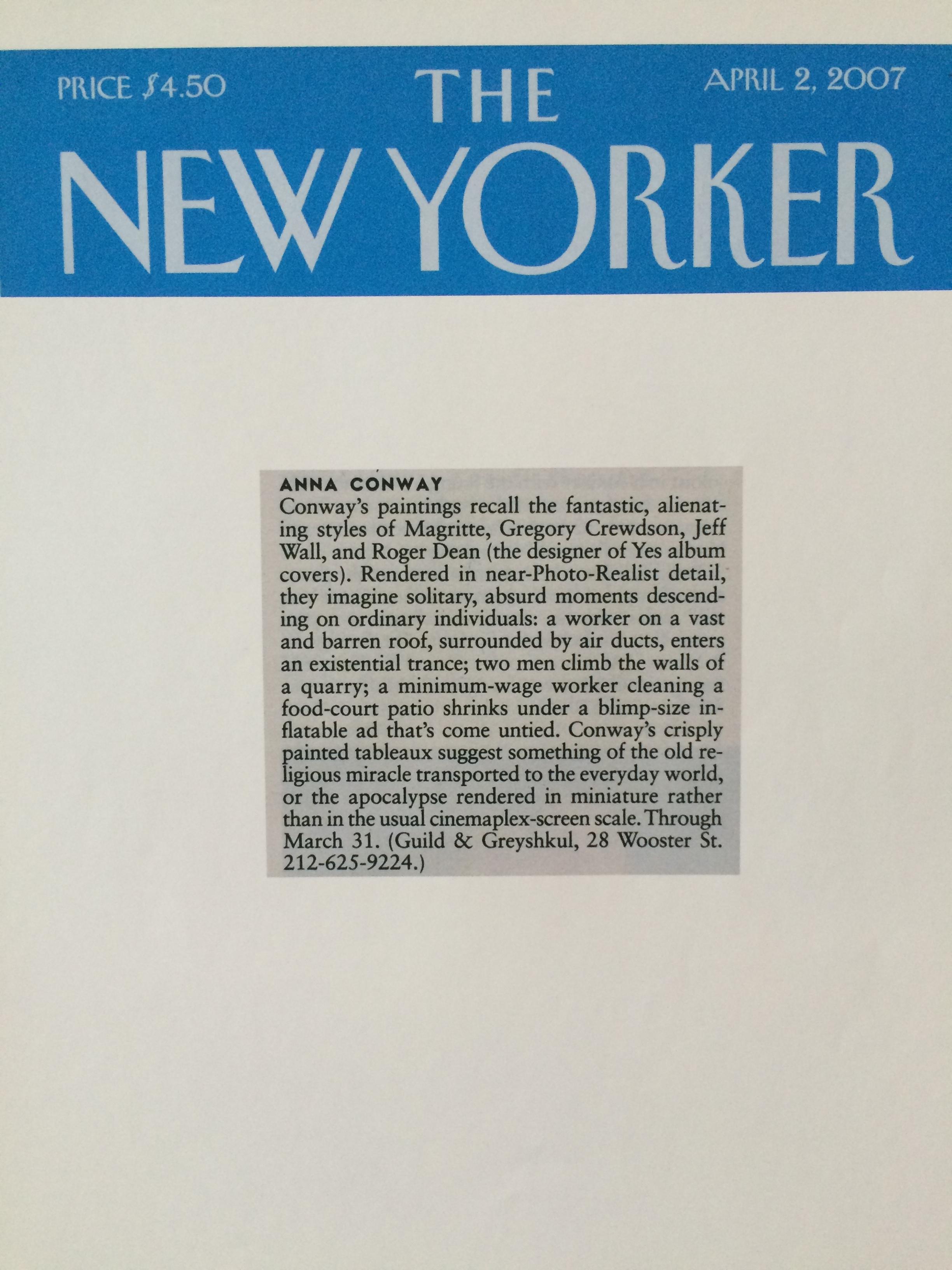 New Yorker, 2007