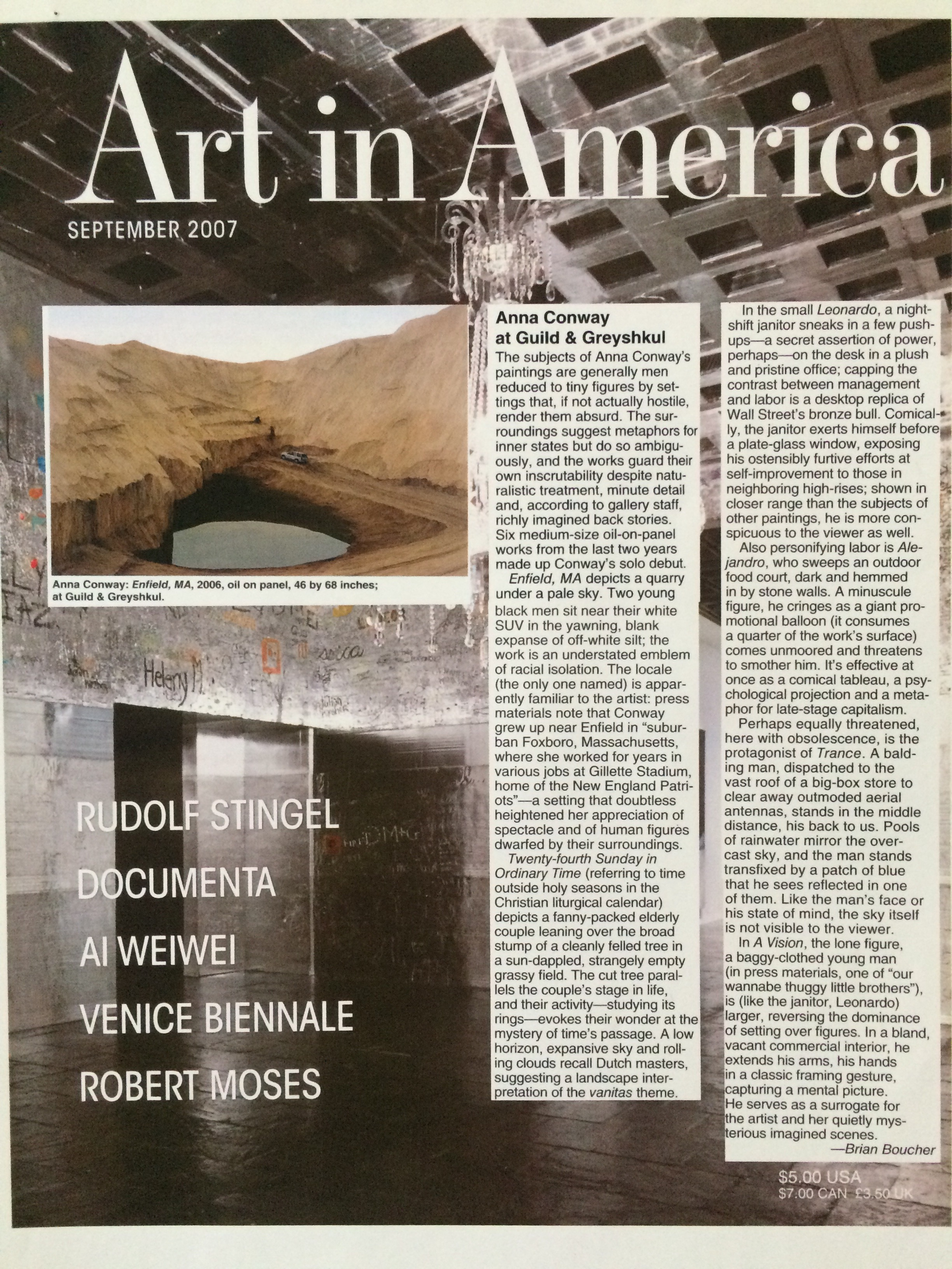 Art in America, Sept. 2007
