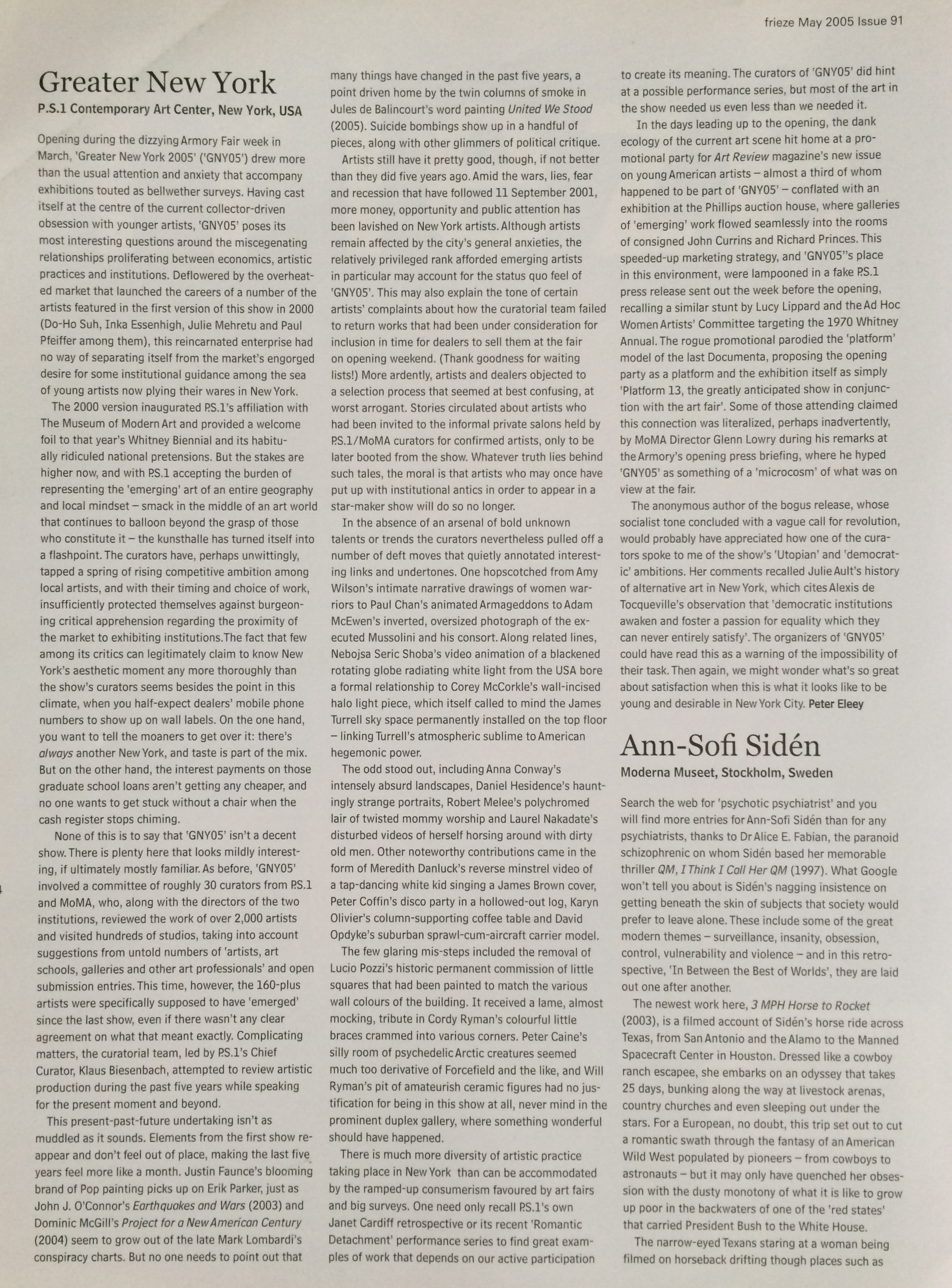 Frieze, May 2005